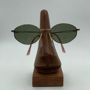 Safilo Gold Oval Sunglasses Frames